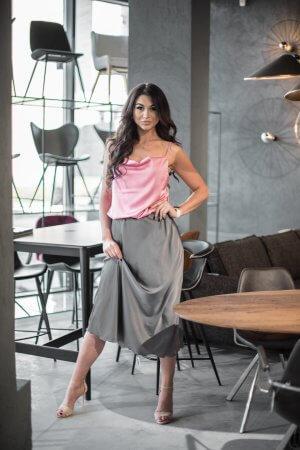 šilkinis sijonas ilgas pilkas