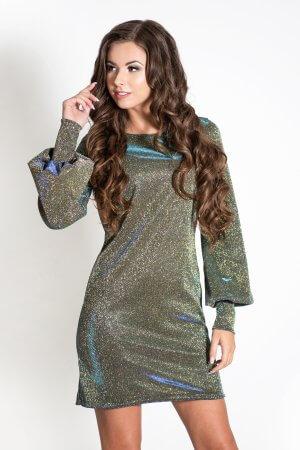 Blizganti jaunatviska suknele disko stiliaus