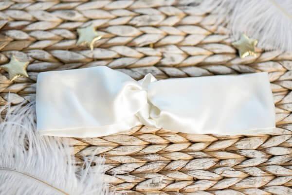 turbanas is naturalaus šilko