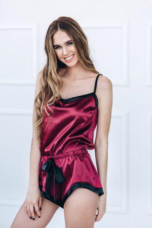 Differentwe pižama raudono vyno, raudona, seksuali, dovana merginai, dovana zmonai, dovana valentinkei