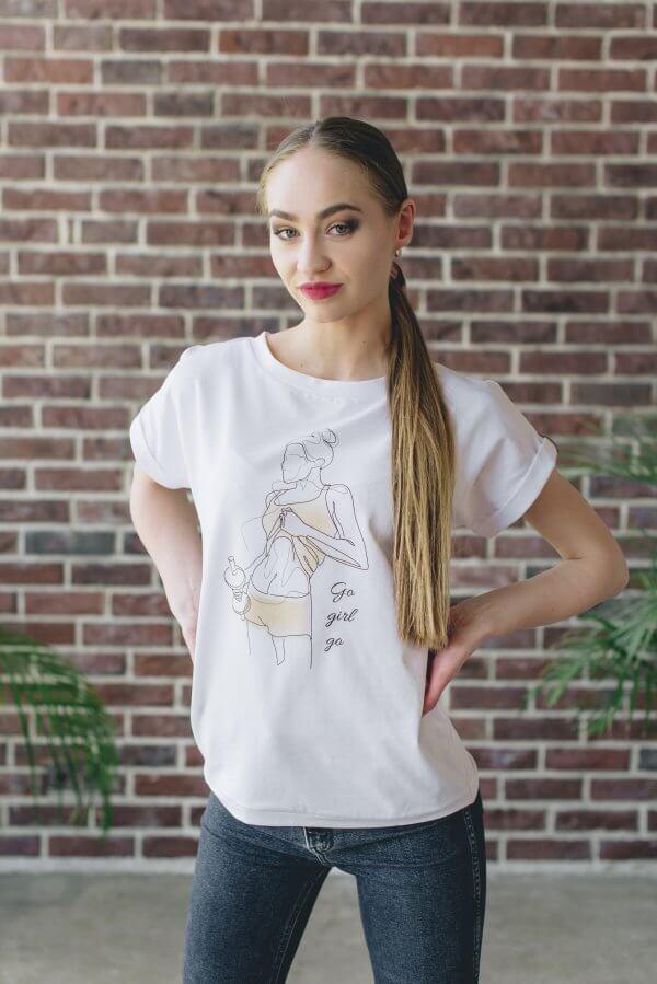 Marškineliai su spauda Art line technika (1)