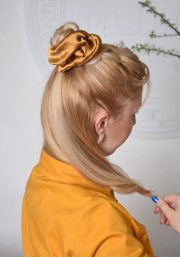 silkiniai aksesuarai plaukams