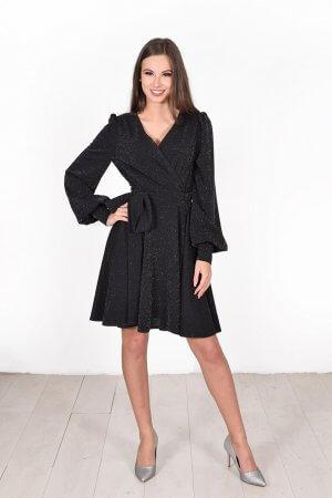 Progine suknele su blizgesiu juoda