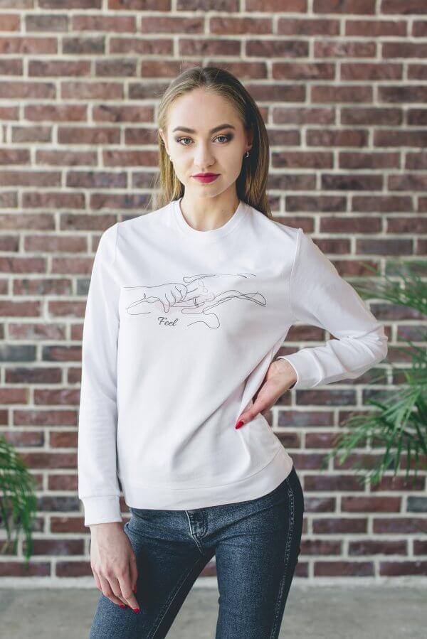 Džemperis su spauda Art line technika feel