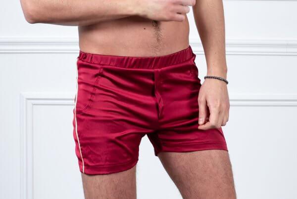 Vyriški šortai iš Armani šilko differentwe raudonos spalvos