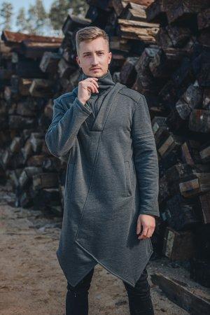 Vyriškas ilgas džemperis su ilgesniu kaklu